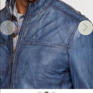 BNWT: Lucio waxed lambskin moto jacket | Overland